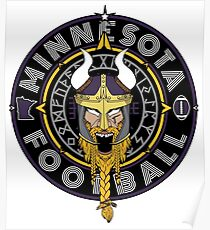 Minnesota Football Viking Compass - North Star Sports Collection  Poster