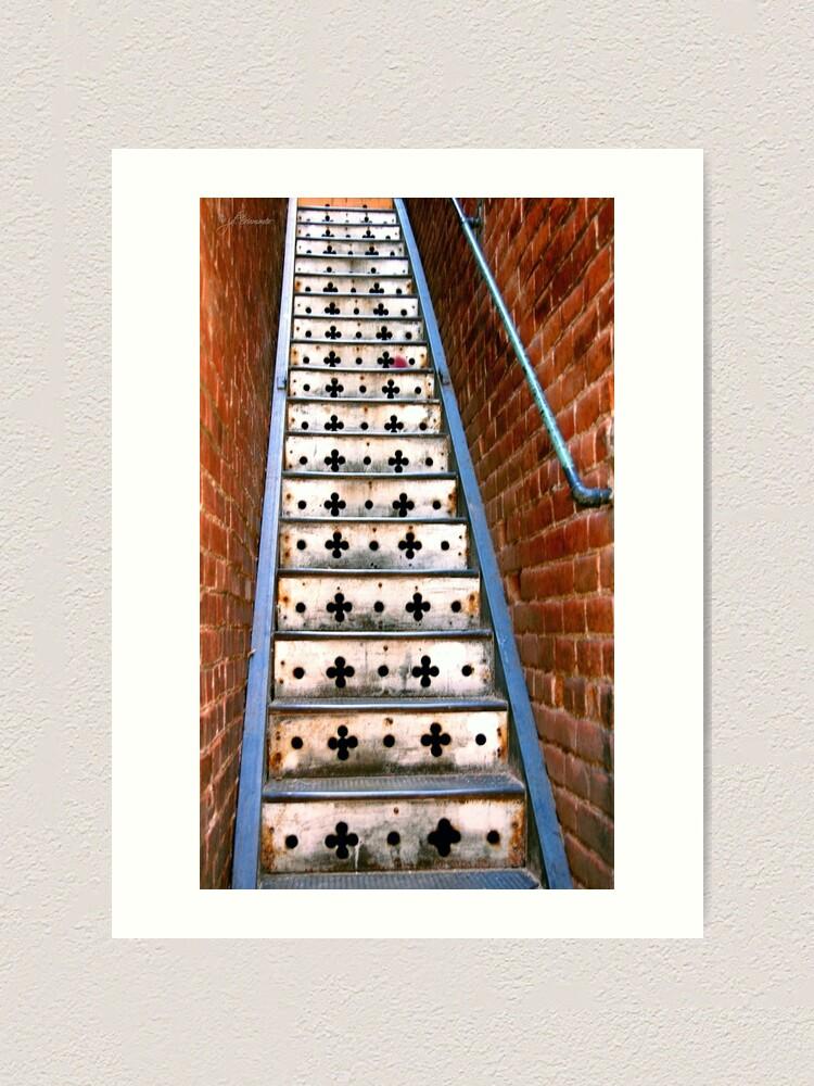 Alternate view of Lucky Steps Art Print