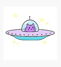 ufc (unidentified flying cat) Photographic Print