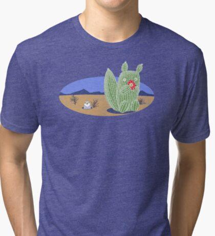Squirrel Cactus  Tri-blend T-Shirt