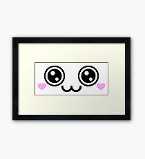 Puppy Dog Eyes Anime Face Framed Print