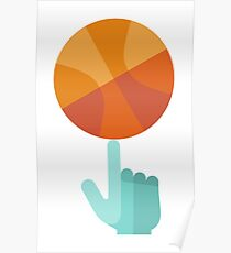 Basketball Spin Icon Poster