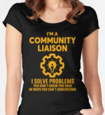COMMUNITY LIAISON - NICE DESIGN 2017 Women's Fitted Scoop T-Shirt