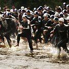 Triathlon Race Start by Elodie