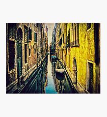 Vintage Streets of Venice Photographic Print