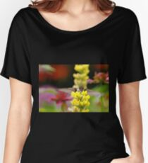 Ruby Throated Hummingbird And Lupine Women's Relaxed Fit T-Shirt
