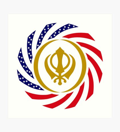Sikh American Patriot Flag Series Art Print