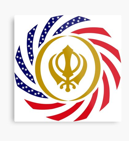Sikh American Patriot Flag Series Metal Print