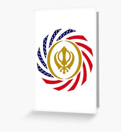 Sikh American Patriot Flag Series Greeting Card