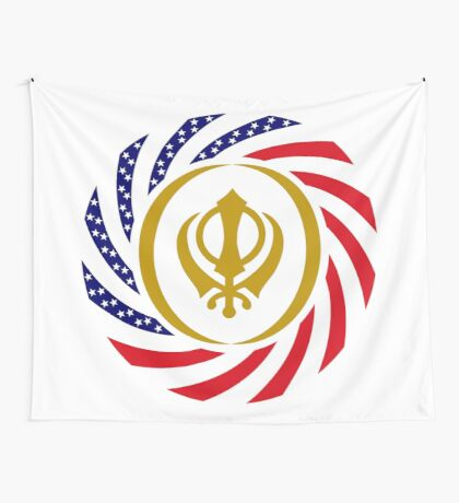Sikh American Patriot Flag Series Wall Tapestry