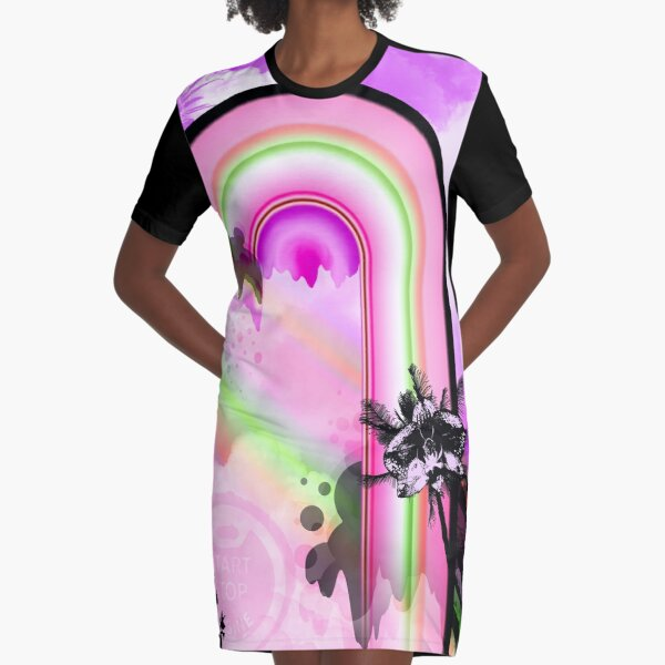 Aloha Sunday Graphic T-Shirt Dress
