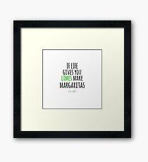 JIMMY BUFFETT - MARGARITAS Framed Print