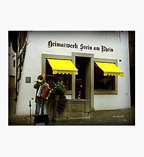 Street Musician in Stein-Am-Rhein Photographic Print