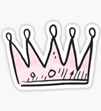 Pink Crown Sticker