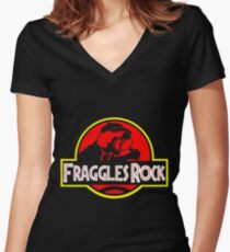 Fraggles Rock! Women's Fitted V-Neck T-Shirt