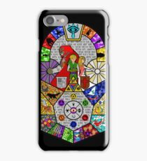 History of Hyrule Stained Glass iPhone Case/Skin