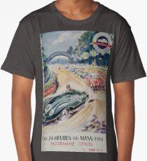 24hs Le Mans, 1954, vintage poster Long T-Shirt