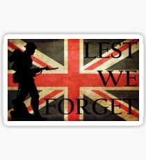 Lest we Forget - Rememberance T-shirt  Sticker