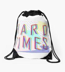 Hard Times Drawstring Bag