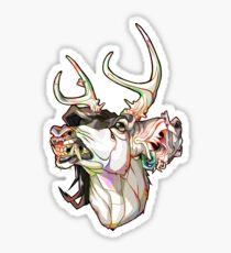 Baboon Teeth (Color Lines) Sticker