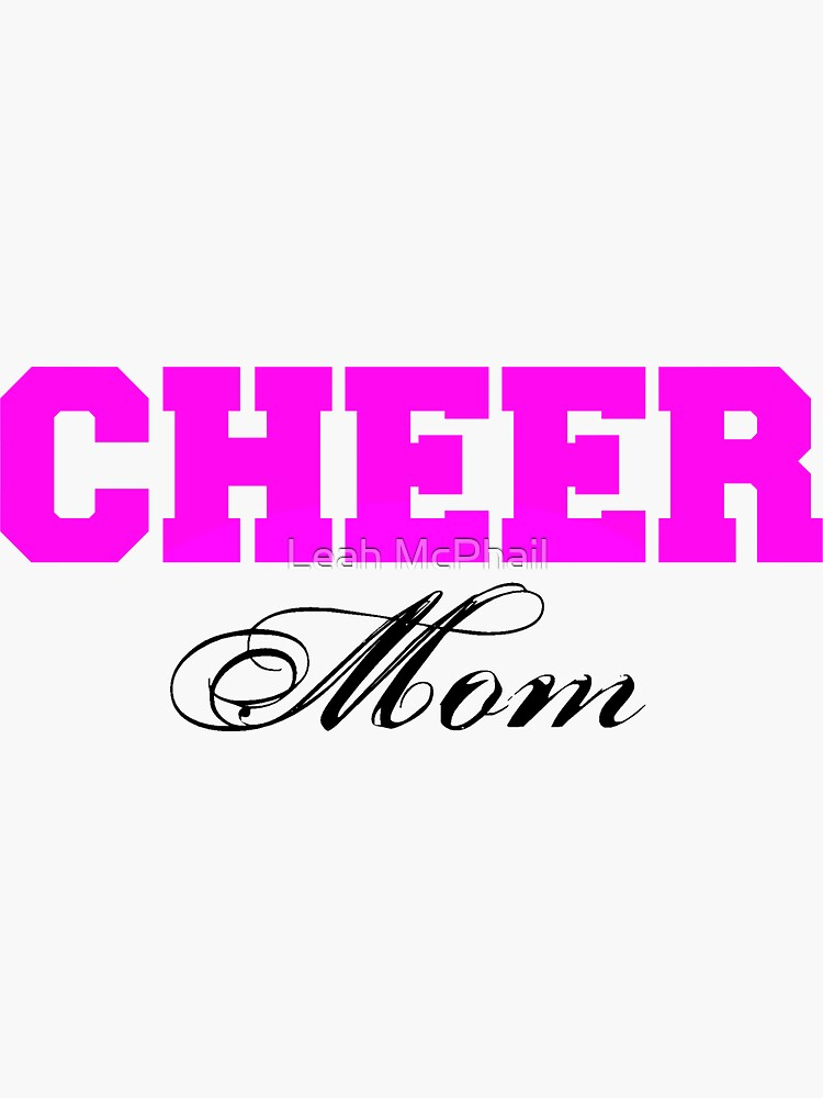 Cheer Mom Typography in Pink and Black by LeahMcPhail