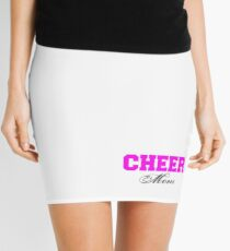 Cheer Mom Typography in Pink and Black Mini Skirt