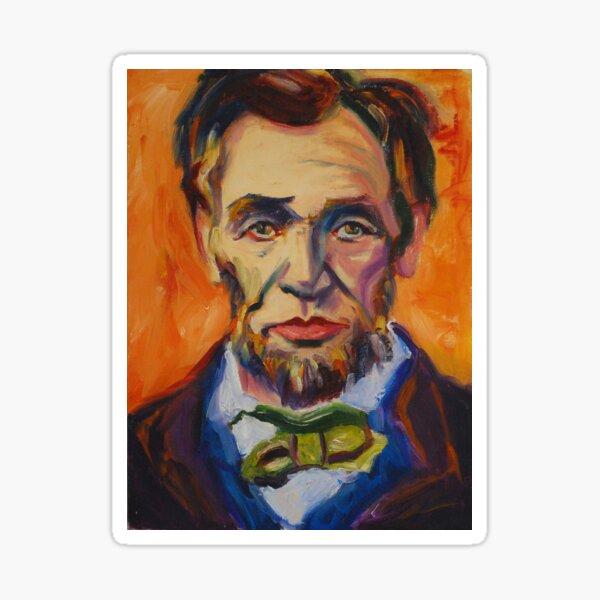 Abe Lincoln Portrait in Pop Art Style Sticker