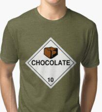 Chocolate: Hazardous! Tri-blend T-Shirt