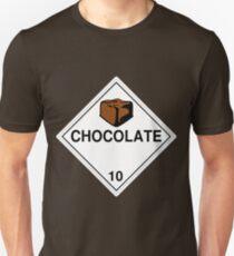 Chocolate: Hazardous! Unisex T-Shirt