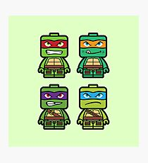Chibi Ninja Turtles Photographic Print