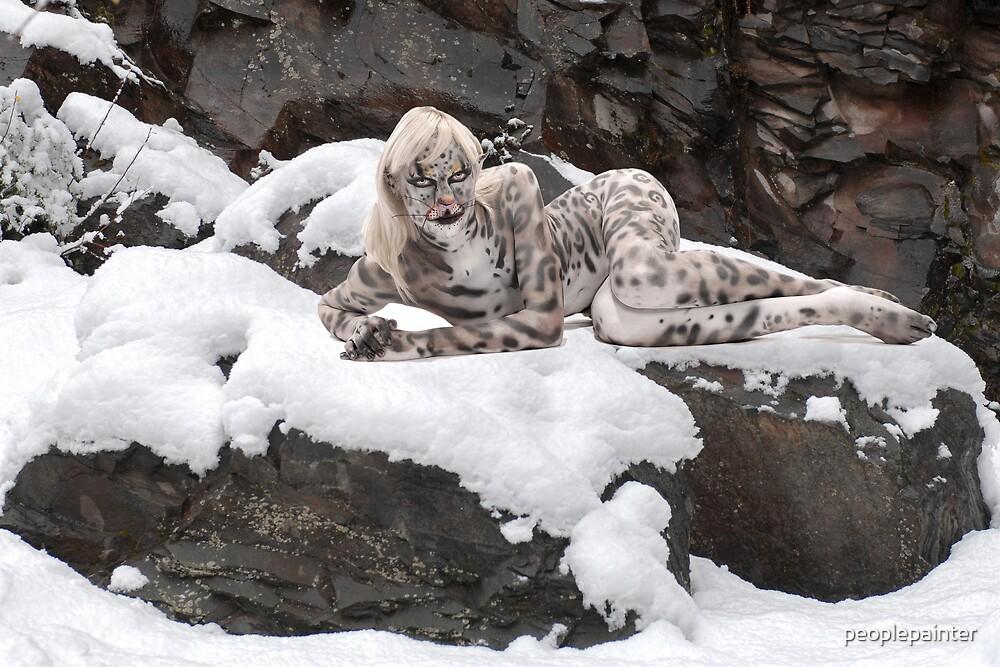"""""""Snow Leopard"""" by peoplepainter"""