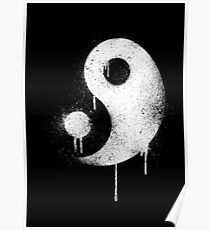 Graffiti Zen Master - Spray paint yin yang Poster