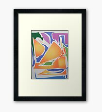 Coloured Abstract Framed Print