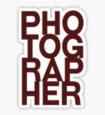 Photographer tshirt Sticker