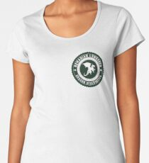 Dragon Sanctuary - Badge Size Women's Premium T-Shirt