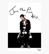 Jam The Pain Away... Photographic Print