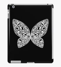 Whimsical Butterfly (Black White ver.) iPad Case/Skin