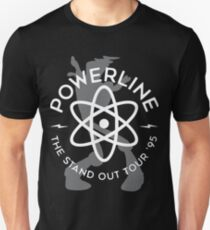 Powerline (white & Grey) Unisex T-Shirt