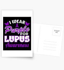 Postales Llevo la camisa púrpura de la conciencia del lupus e6ec4d45ded8e