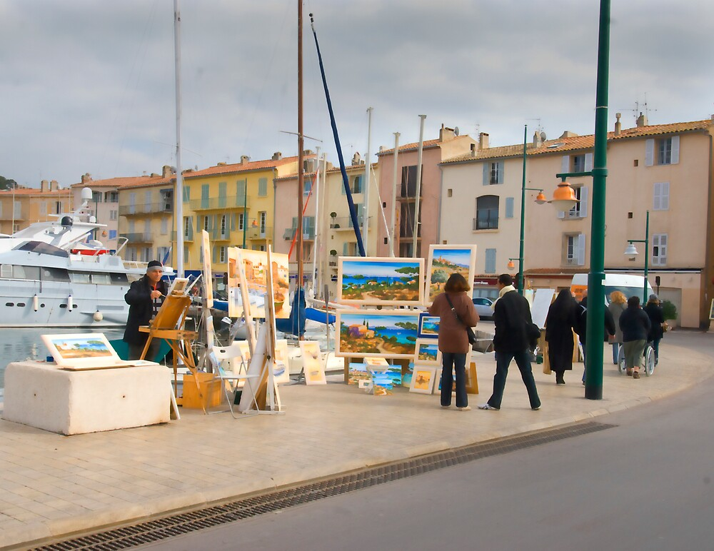 Strolling in St Tropez by Sue Wickham