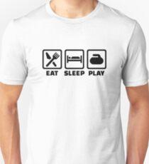 Eat Sleep Play Curling T-Shirt