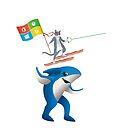 Ninja cat jumping the shark by estruyf