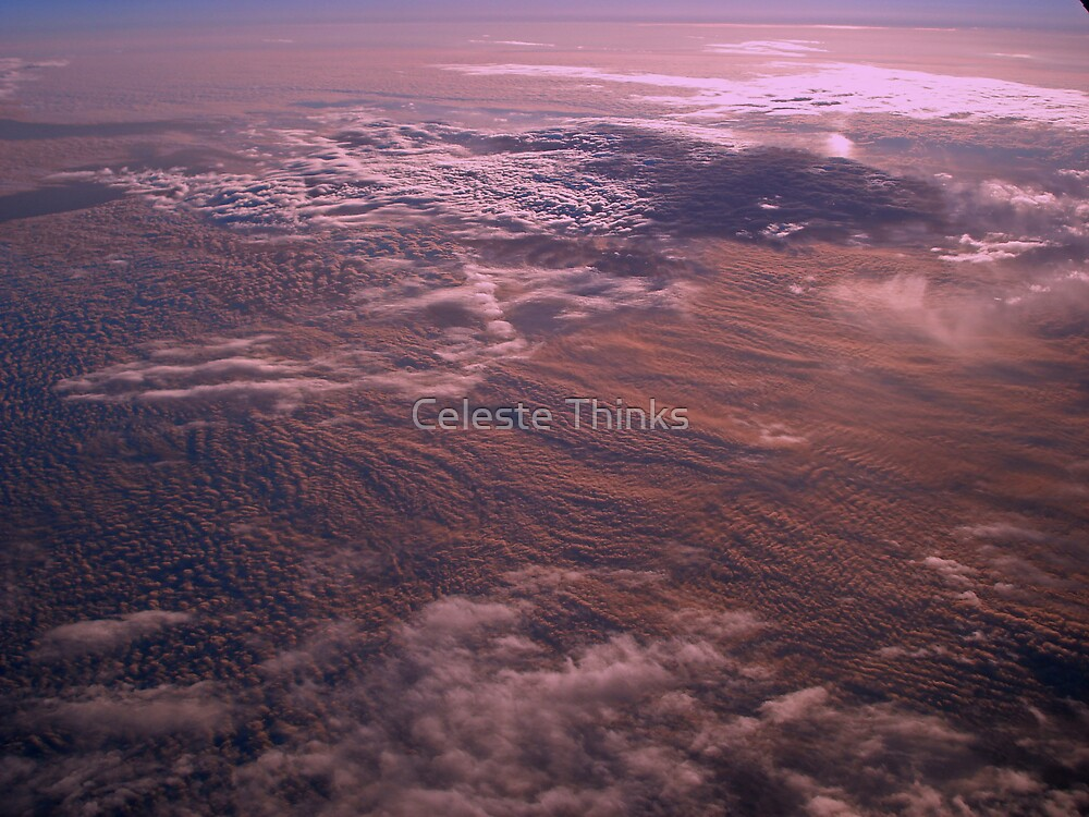 Sunrise Above the Clouds by Celeste Thinks
