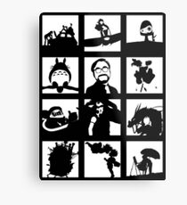 Tribute to Miyazaki Metal Print