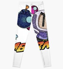 Glitter Bomberman Logo Leggings