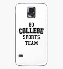 Go College Sports Team Black Case/Skin for Samsung Galaxy