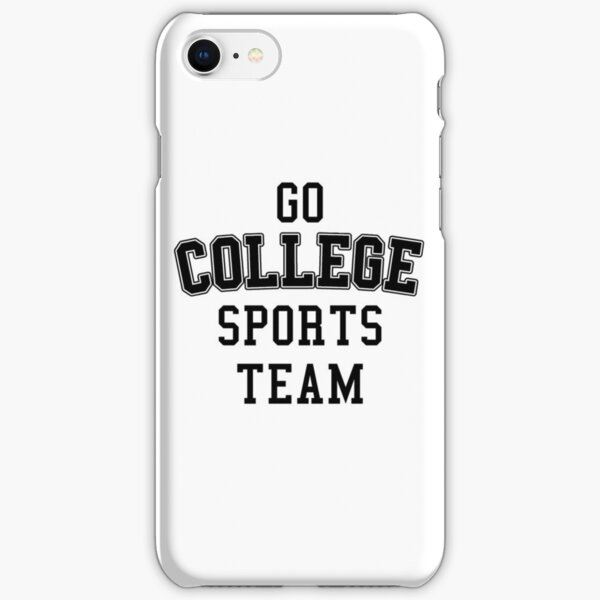 Go College Sports Team Black iPhone Snap Case