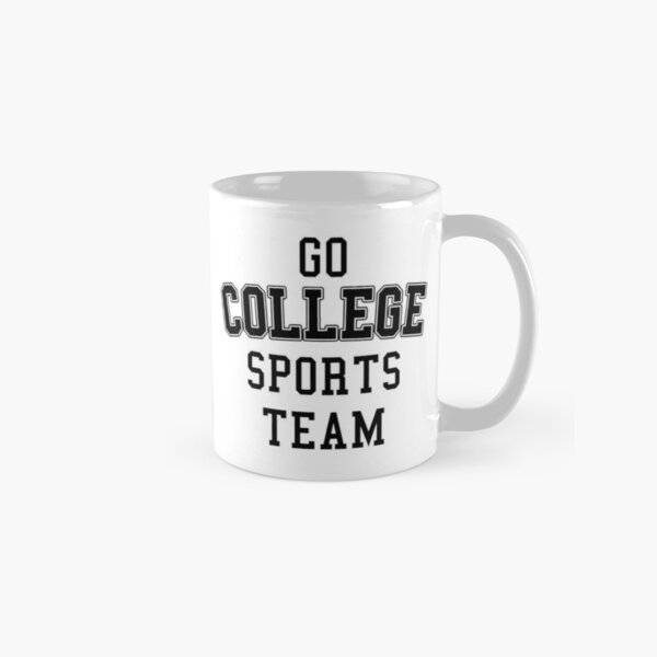 Go College Sports Team Black Classic Mug