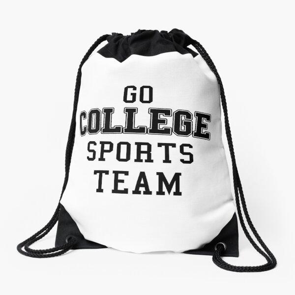 Go College Sports Team Black Drawstring Bag