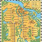 Super Mario Bros 3 Style Amsterdam Metro Network Map by hangman3d